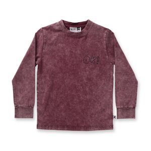 Minti OK L/Sleeve Tee Burnt Red Wash
