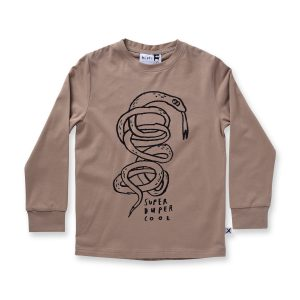 Minti Super Duper Cool L/Sleeve Tee Tan
