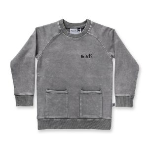 Minti Blasted Stash Crew Grey Wash