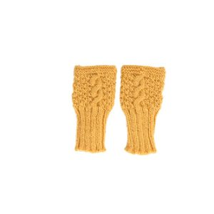 Acorn Kids Mittens Cable Knit Mustard