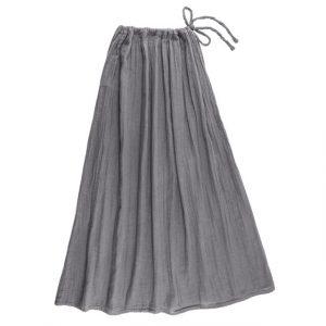 Numero 74 Ava Mum Long Skirt Stone Grey