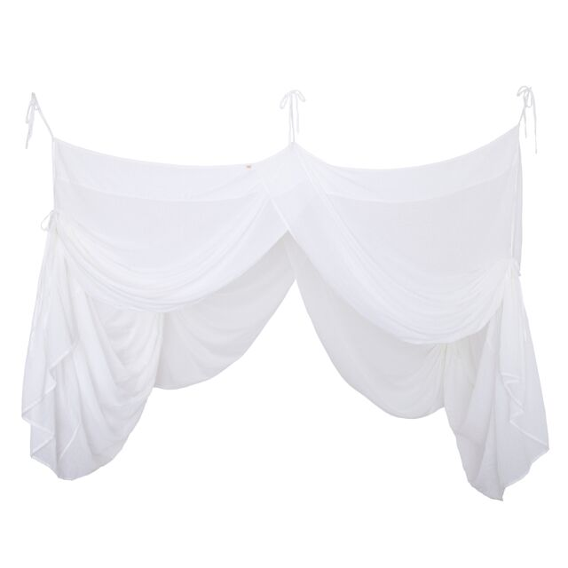 Numero 74 Bed Drape Single White