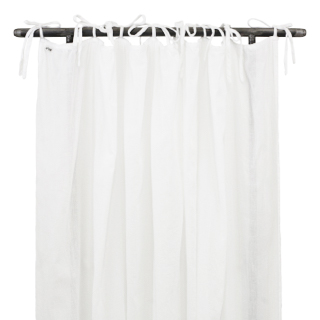 Numero 74 Gathered Curtain Plain White
