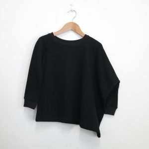 Kin Asymmetric Sweatshirt Womens Black