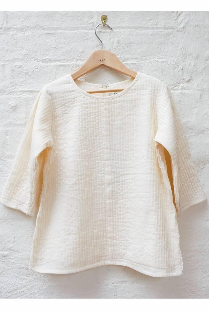 Kin 3/4 Sleeve Iris Shirt Natural