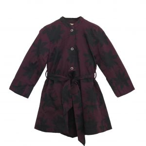 Kin Claude Jacket Dress Aubergine + Black Print