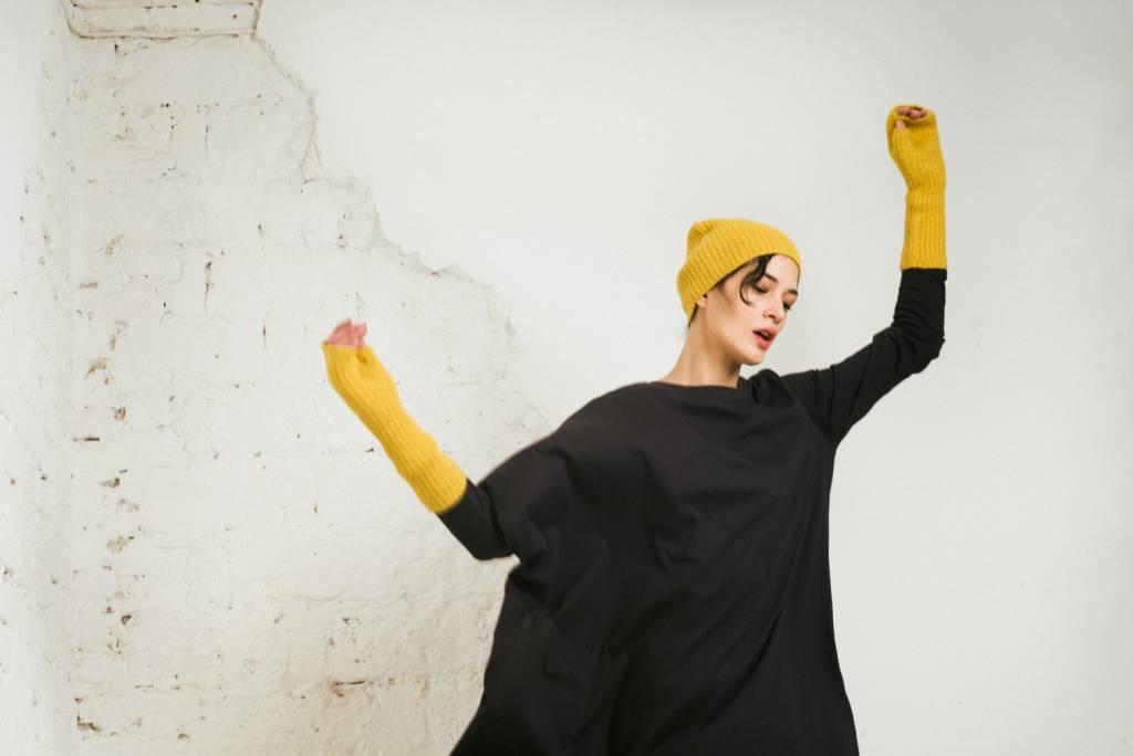 Kin Long Sleeve Asymmetric Tee Womens Black