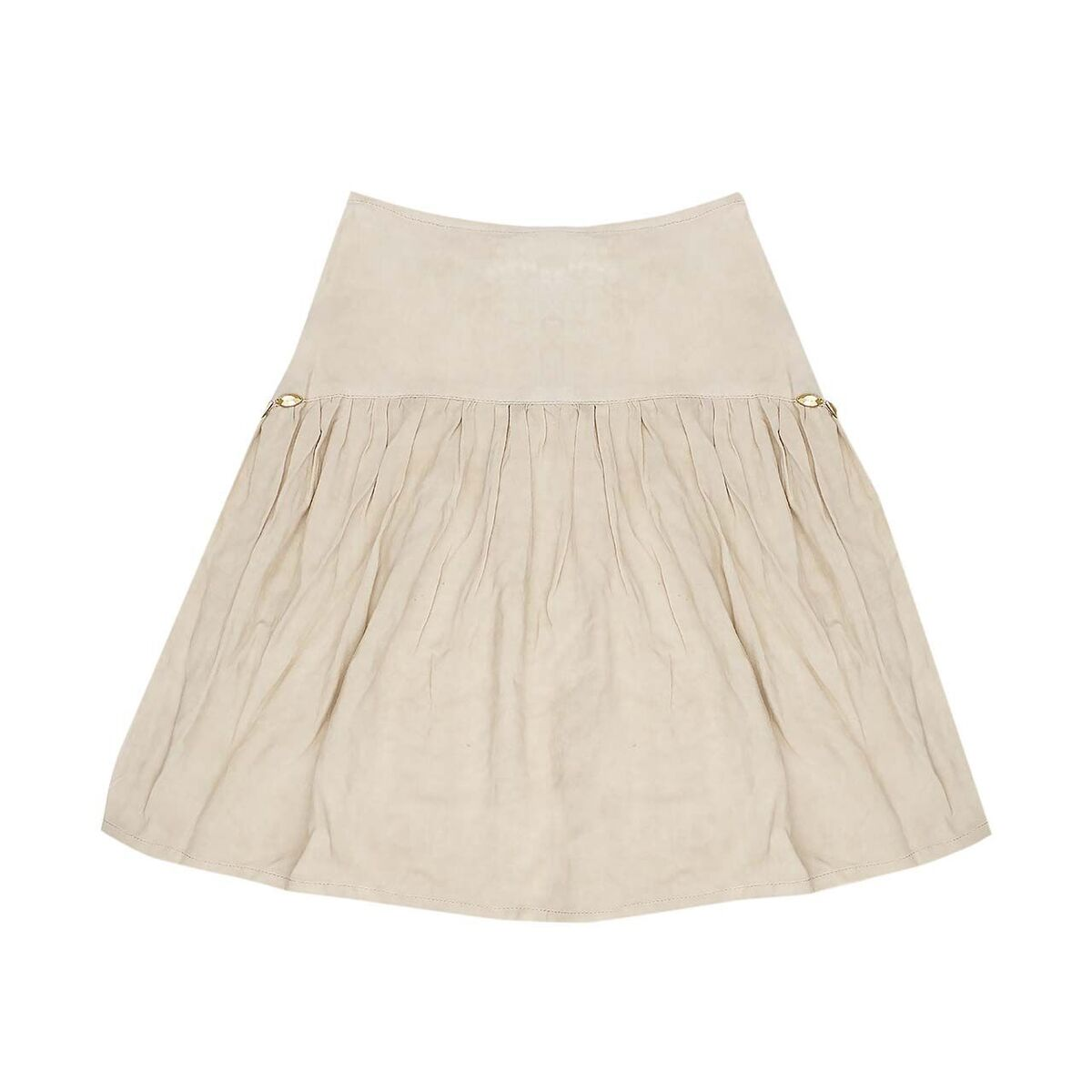 Bella and Lace Ponyo Mid Skirt Stone