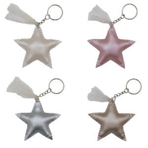 Numero 74 Iridescent Star Keychain