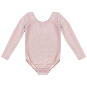 Bella and Lace Sparkle Leotard Desert Pink
