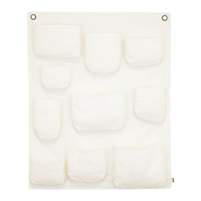 Numero 74 Hanging Wall Pocket White
