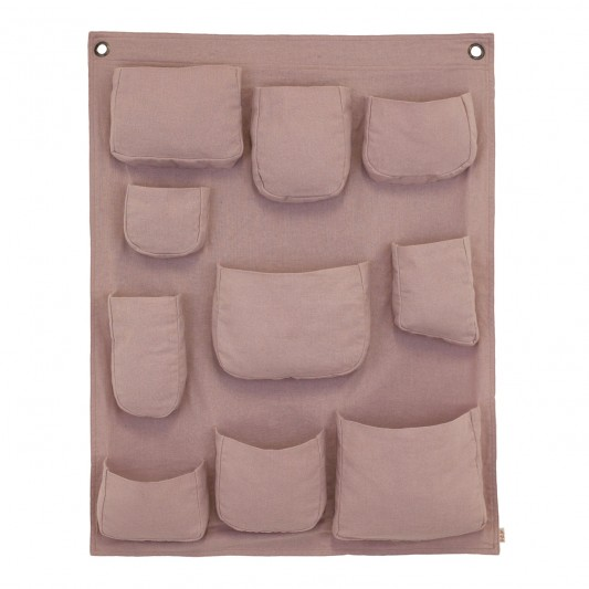 Numero 74 Hanging Wall Pocket Dusty Pink