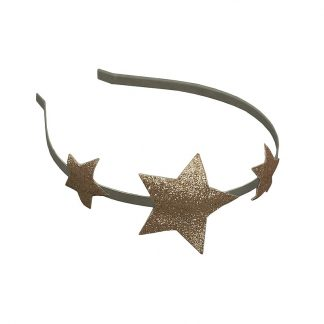 Numero 74 Glitter Star Headband Gold