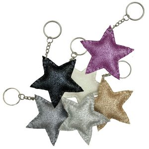 Numero 74 Glitter Star Keychain