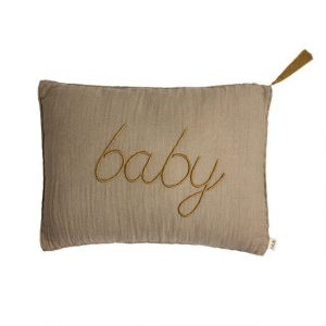 Numero 74 Message Cushion Baby Beige