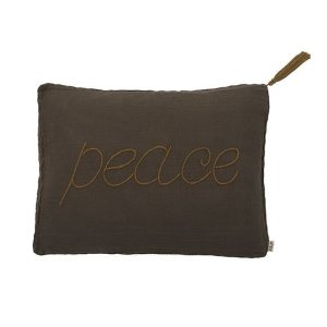 Numero 74 Message Cushion Peace Taupe