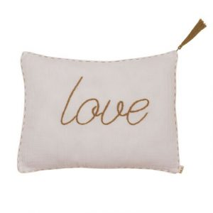 Numero 74 Message Cushion Love White