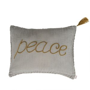 Numero 74 Message Cushion Peace Silver Grey