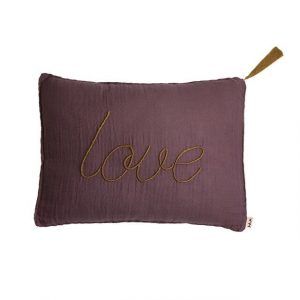 Numero 74 Message Cushion Love Dusty Lilac