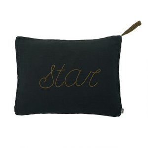 Numero 74 Message Cushion Star Charcoal