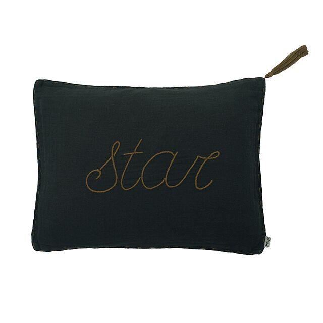 Numero 74 Message Cushion Star Charcoal