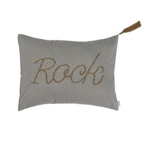 Numero 74 Message Cushion Rock White Dots Silver Grey