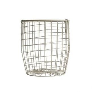 Down to the Woods Wire Basket White