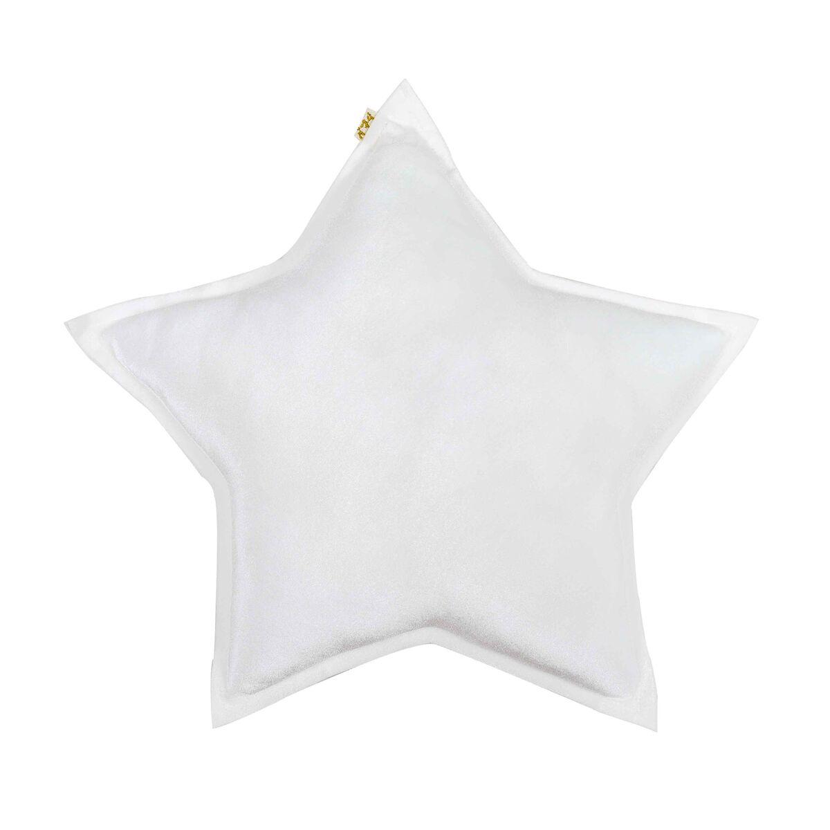 Numero 74 Star Cushion Velvet White Medium 45cm