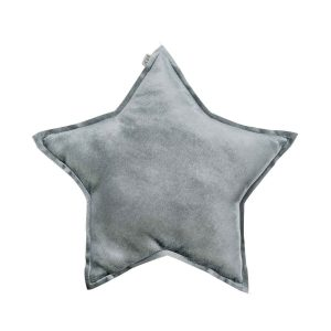 Numero 74 Star Cushion Velvet Silver Grey Small 30cm