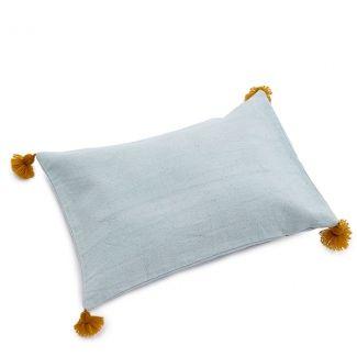 Muskhane Pom Pom Cushion Jade