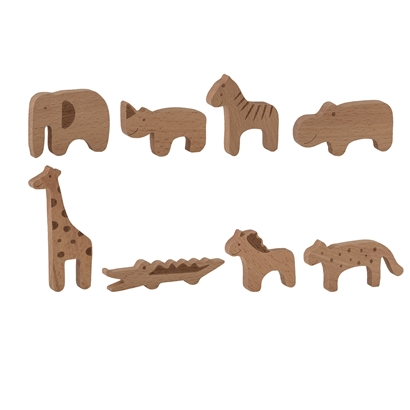 Bloomingville Toy Animals Beech (Pack of 8)