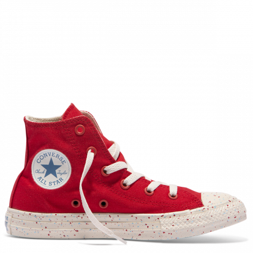 Converse Kid American Speckle Hi Enamel Red