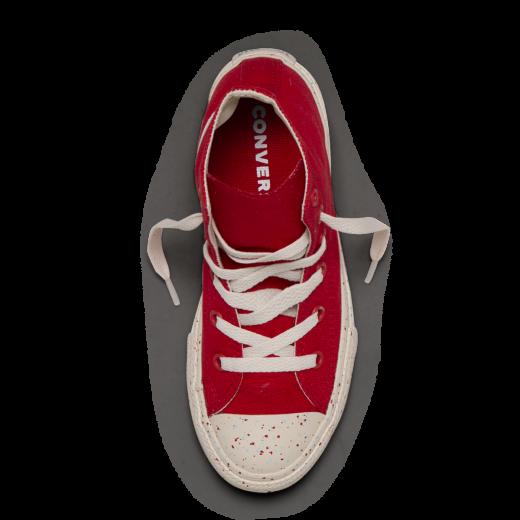 Converse Kid Americana Speckle Hi Enamel Red