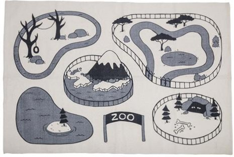 Bloomingville Rug Zoo Grey 100cm x 155cm