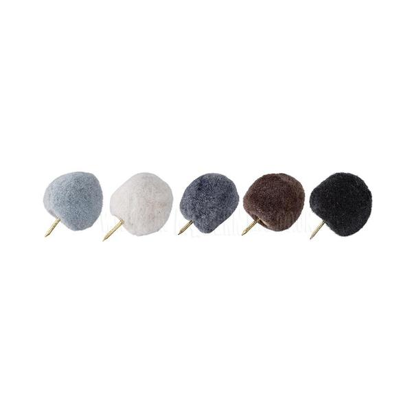 Bloomingville Pom Pom Pin Set Of 10 Natural