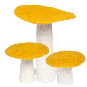 Muskhane Felt Wool Mushroom Pollen