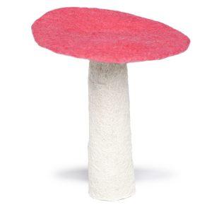 Muskhane Felt Wool Mushroom Fluro Pink