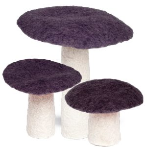 Muskhane Felt Wool Mushroom Prune