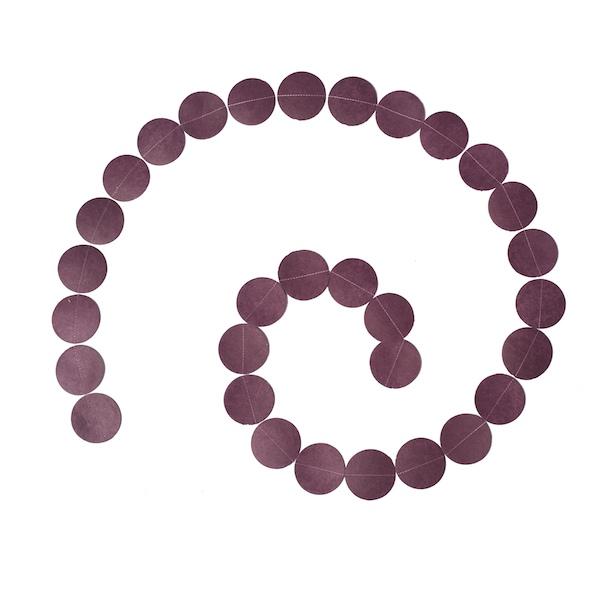 Muskhane Round Paper Garland Burgundy