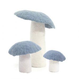 Muskhane Felt Wool Mushroom Mineral Blue