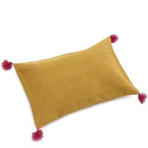 Muskhane Pom Pom Cushion Pollen