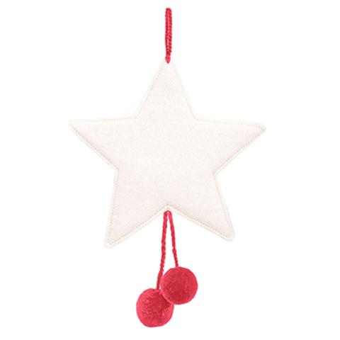 Muskhane Star Pom Pom Natural/Tender Pink
