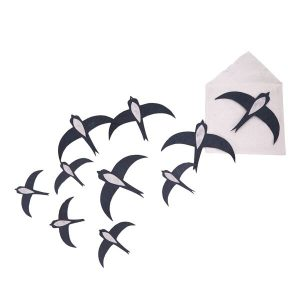 Muskhane Swallow Paper Set Black