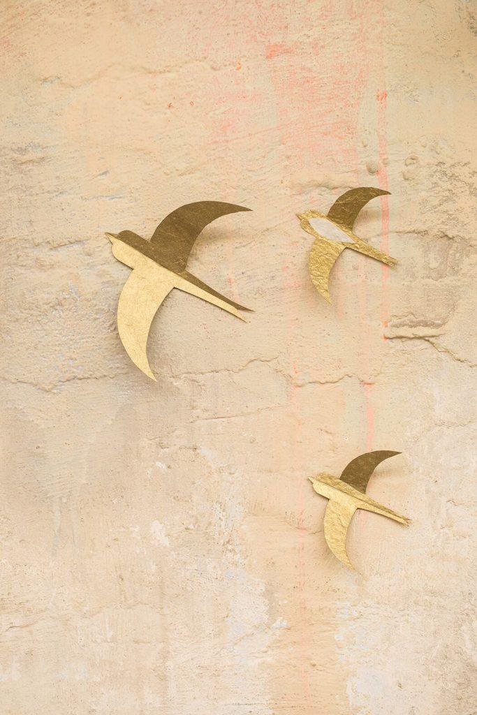 Muskhane Swallow Paper Set Gold