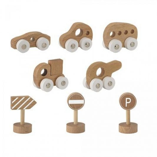 Bloomingville Toy Cars Beech (Pack of 8)