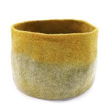 Muskhane Bicolour Calabash Storage Basket Pollen/Lotus