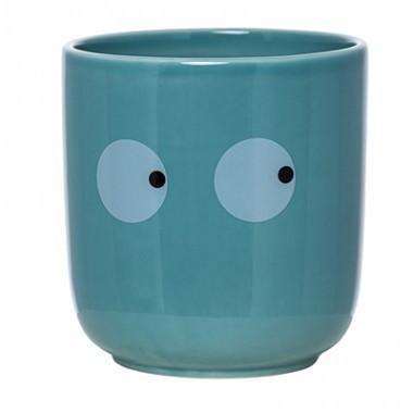 Bloomingville Ceramic Jar Eyes Blue