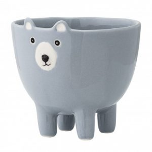 Bloomingville Jar Bear Blue Stoneware