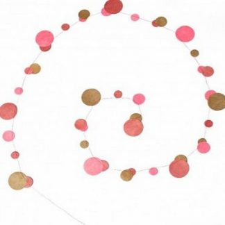 Muskhane Bubble Garland Light Pink/Ultra Pink