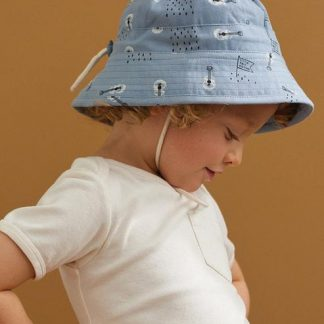 Nature Baby Bucket Sunhat Bob's Land Blue